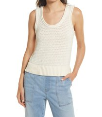 madewell women's fairview sweater tank, size medium in pearl ivory at nordstrom