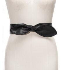 inc wide bow plus-size stretch belt, created for macy's