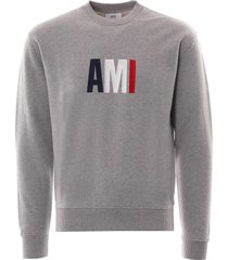 ami embroidery sweatshirt | grey | e20hj003-055