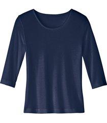 biokatoenen shirt met ronde hals, marineblauw 40