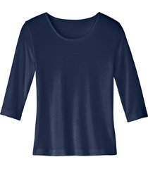 biokatoenen shirt met ronde hals, marine 36/38