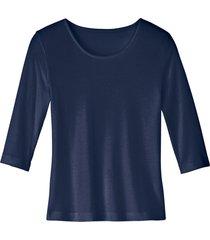 biokatoenen shirt met ronde hals, indigo 36