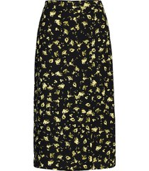 floral midi skirt rok knielengte zwart calvin klein jeans