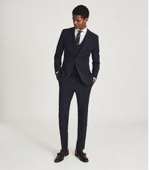 reiss pray - slim fit travel blazer in navy, mens, size 46l