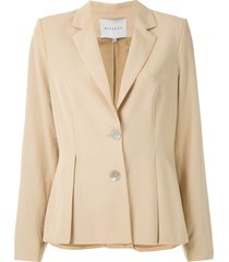 alcaçuz mafra pleated blazer - neutrals