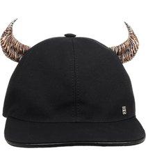 givenchy black horn cap