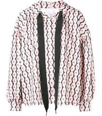 marques'almeida floral print hoodie - white