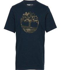 ss k-r camo tree t t-shirts short-sleeved blå timberland