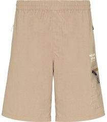 pas normal studios off race shield shorts - brown