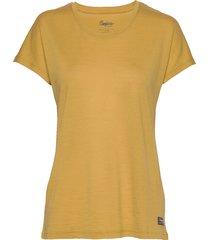 oslo wool w tee t-shirts & tops short-sleeved gul bergans