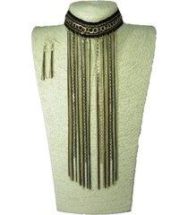 collar artesanal dorado sasmon cl-12303