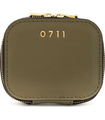 0711 small ela cosmetic bag - green