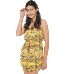 vestido nrg flores amarillo - calce regular