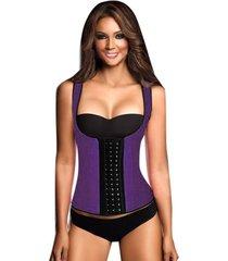 fajas mujer corset cinturilla moldeadora reductora mujer -púrpura