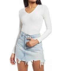 women's bayse karlyle scoop neck bodysuit, size medium - white
