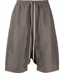 rick owens drawstring drop-crotch shorts - neutrals
