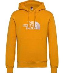 m drew peak plv hd hoodie trui goud the north face