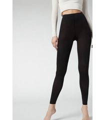calzedonia opaque 50 denier soft touch leggings woman black size 3/4