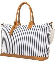 cathy's concepts monogram oversized tote - blue