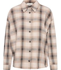 fred shirt långärmad skjorta creme modström
