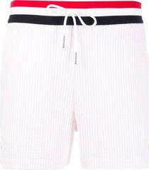 thom browne ribbed short shorts - pink