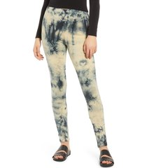 women's vero moda tie dye leggings, size medium - black
