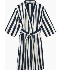nimikko bathrobe morgonrock badrock blå marimekko home