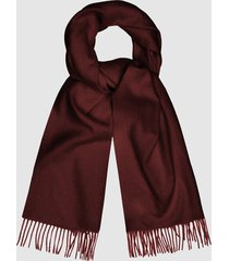 reiss saskia - lambswool cashmere blend scarf in berry, womens