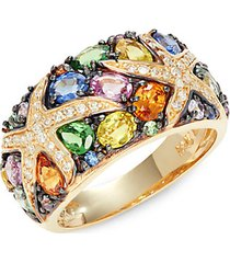 14k yellow gold & multi-stone ring