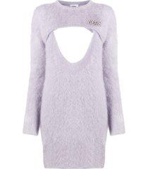 gcds cut-out detail jumper dress - purple