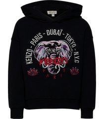 kyga hoodie trui zwart kenzo