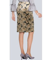 helmönstrad, pennsmal kjol amy vermont beige::svart