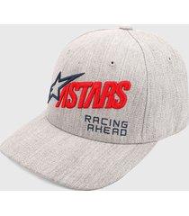 gorra gris-multicolor alpinestars title cap