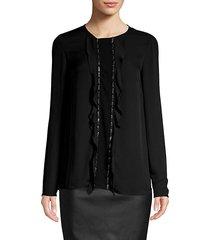 silk georgette studded blouse