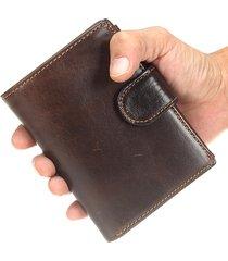 11 portafogli portafoglio vintage hasp per il sacchetto di moneta della cera dell'olio di cuoio dell'annata per gli uomini
