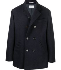brunello cucinelli short double-breasted coat - blue