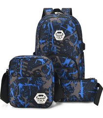 mochila/ impermeables la manera para los bolsos de-azul