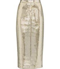 anouki disco ball midi pencil skirt - metallic