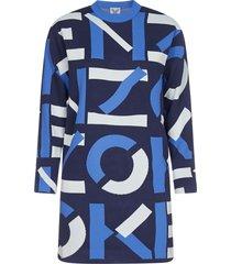 kenzo logo blend-cotton knit dress