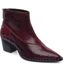avagz boots ao19 shoes boots ankle boots ankle boot - heel röd gestuz