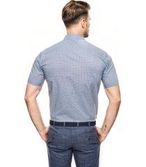 koszula bexley 2574 krótki rękaw custom fit niebieski
