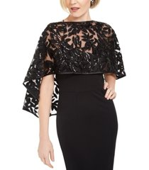 adrianna papell embellished cape cover-up