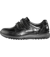 skor med kardborreband waldläufer svart