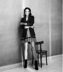 reiss fabio - zig-zag printed mini skirt in black/neutral, womens, size 12