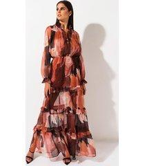 akira polaroid floral maxi dress
