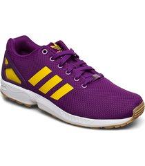 zx flux låga sneakers lila adidas originals