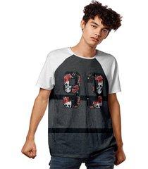 camiseta 93 cinza brooklyn style raglan