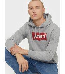 levis graphic po hoodie b hm po co m tröjor grey