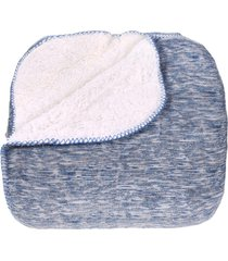 manta cobertor queen sherpa l㣠de carneiro + flannel forum - tessi - estampado - dafiti