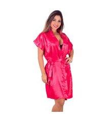 robe   vip lingerie acetinado vermelho
